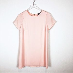 Lulu's | Pink Shift Dress with Gold Zipper Size S